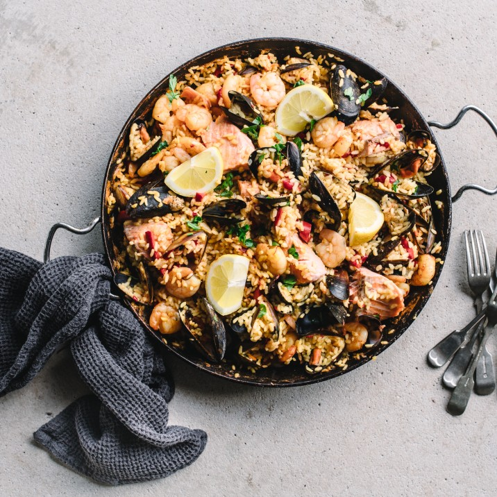 What ingredients do I need for making Seafood Paella at home?
