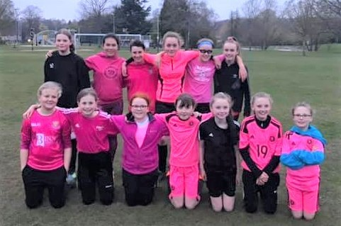 Scone Thistle Under 13s, dress up for Cancer Awareness