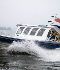 Starting at Broughty Ferry Harbour this trip will take you up the River Tay where you will pass under the Tay Road and Rail Bridges, past the V&A and up the river where you can enjoy a trip to the Small City of Perth.
