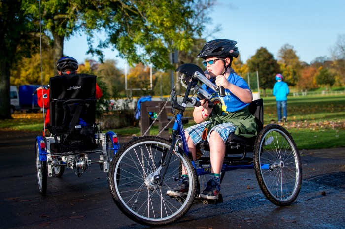 A sunny day on Perth's North Inch is the perfect way to enjoy all-ability bikes.