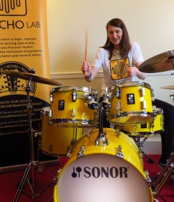 Charlotte Bibby is drumming up a storm with the fledgeling music tuition company The Echo Lab.  We find out more in this week's interview.
