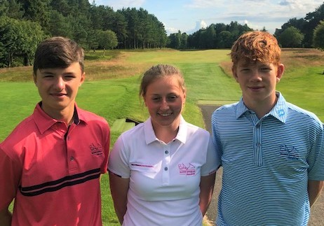 Young golfers Cormac Sharpe, Katy Alexander and Gregor Graham have been appointed Barrie Douglas Foundation ambassadors.