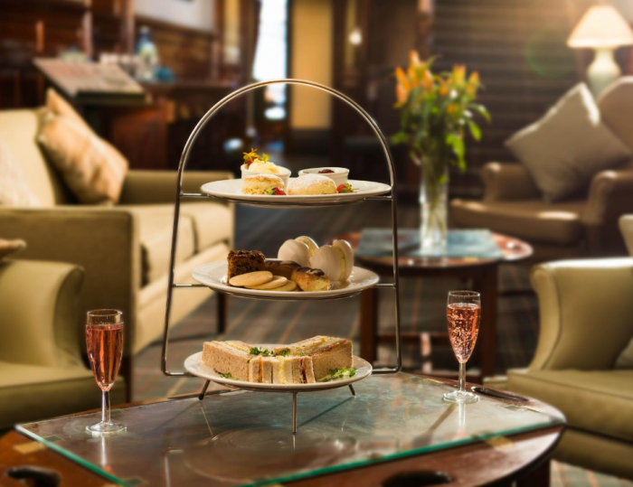 You can expect a delicious and beautifully presented Afternoon Tea at Huntingtower Hotel.