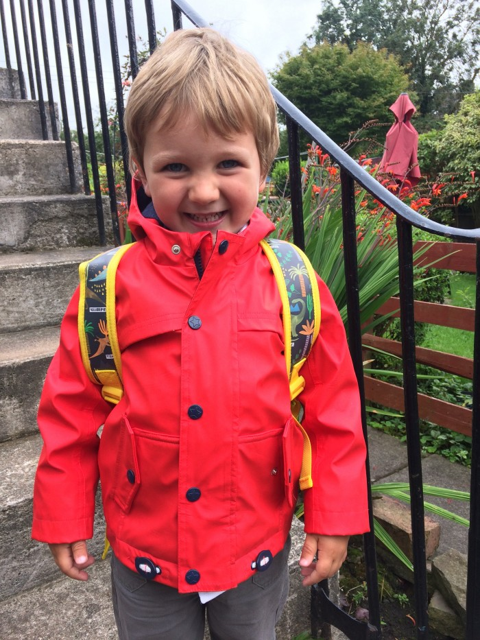 Starting nursery - James in red jacket
