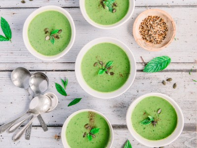 Pea, Mint and Coriander Soup