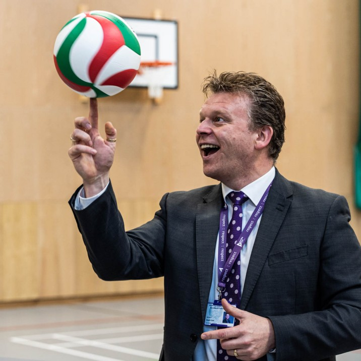 Stuart Clyde has been encouraging his team of teachers to hit the sports hall for lunchtime sessions, in a bid to foster a culture of healthy working lives.