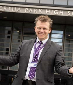 Bertha Park High School Head Teacher, Stuart Clyde, on being the newest addition to education in Perth & Kinross and what he plans to do differently.