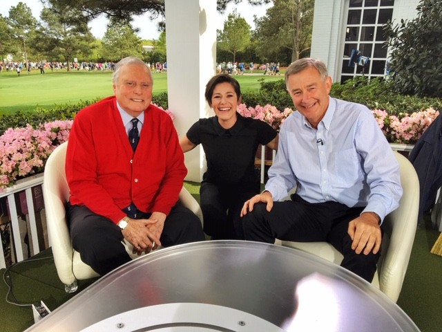 Eilidh Barbour with Peter Alliss and Ken Brown