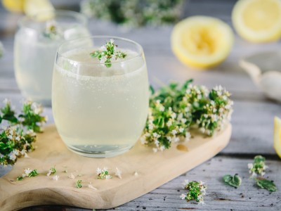 Lemon and Thyme Gin Cocktail