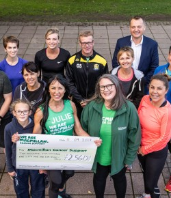 Julie delivers a HIIT for Macmillan