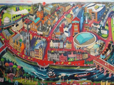 The Fair City by Rob Hain on sale at RSGS Nature and Landscape Exhibition