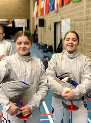 Honor and Lucia Paul, Salle Ossian Fencing Club in Perth, Perthshire