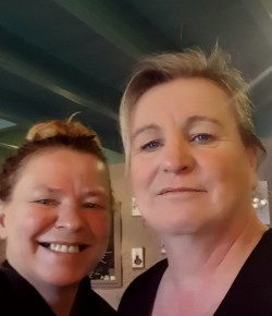 SIsters Kathy Gillon and Liz Munro have a background in hospitality and when they saw the Berryfields tearoom they knew it was the business for them.