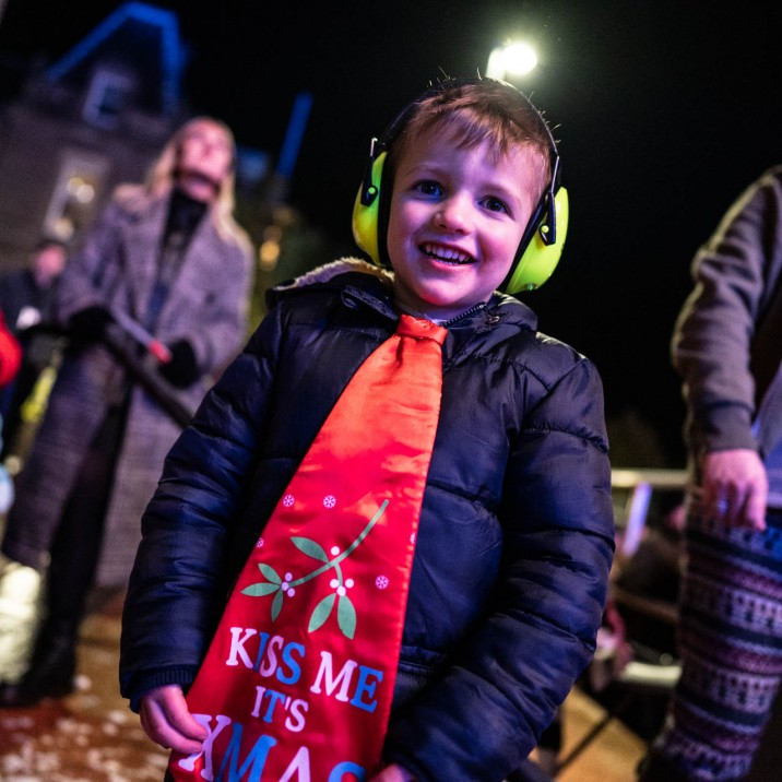 This young chap was having a ball! The event was great for children and adults alike.