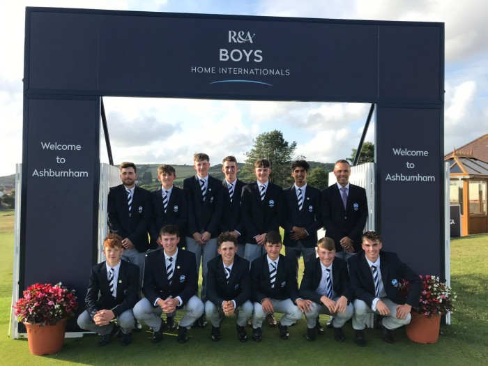 Gregor Graham with his peers at the Home Internationals