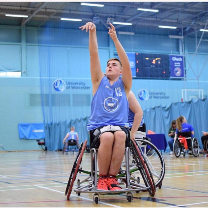 Wheelchair basketball sensation Ben Leitch shoots for glory.