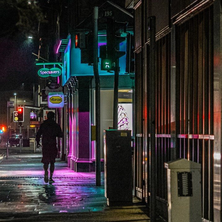 Vibrant reflections make Perth look like a neon lit casino town.