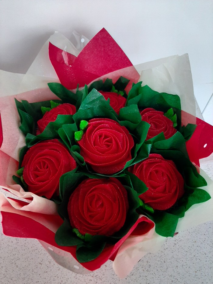 Cake Bouquets - Red Roses