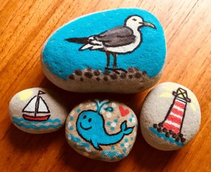 Stones of Scone art project for children and families living in Scone, Perth