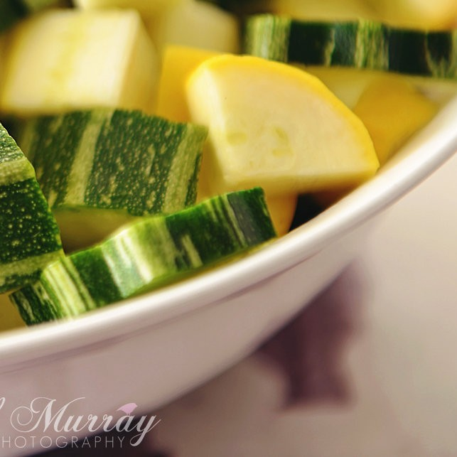 Chopped Yellow and Green Courgettes from Perthshire