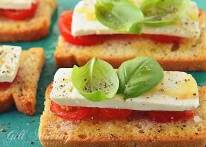 Cherry Tomatoes, Feta & Honey Bruschetta